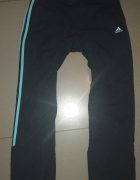 Granatowe Dresowe spodnie adidas S...