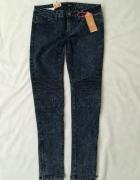 Tally Weijl granatowe jeansy rurki M...