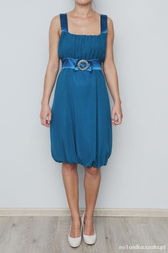 Sukienka w ślicznym morskim kolorze 36...