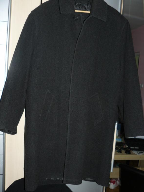 Wełniany płaszcz męski 52 jak nowy
