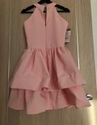 Sukienka różowa rozkloszowana 36...