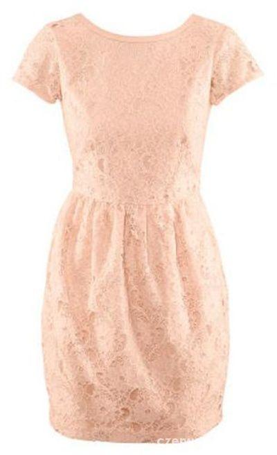 H&M Nowa sukienka Koronkowa Brzoskwiniowa