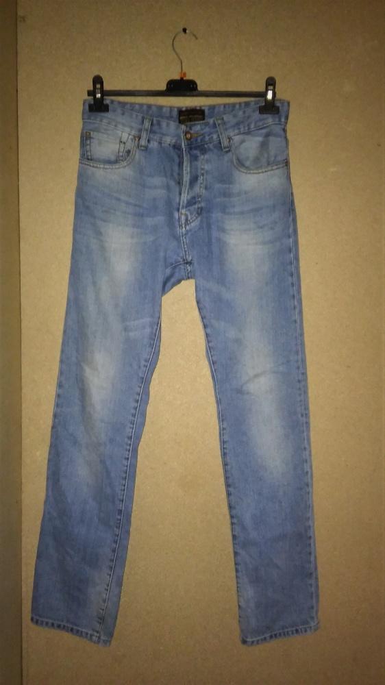 Zara Man Denim Niebieskie męskie jeansy 40