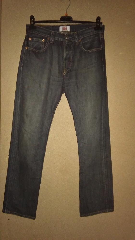 Levi Strauss 501 Granatowe męskie jeansy W29 L30