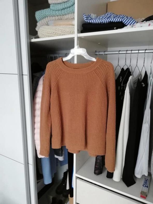 MANGO ciepły brązowy sweter...