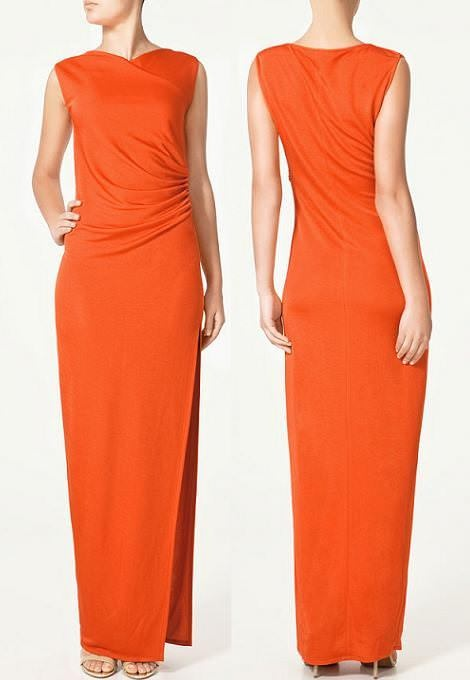 Zara Woman Studio czerwona sukienka maxi M