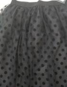 Czarna spódnica tiulowa M L
