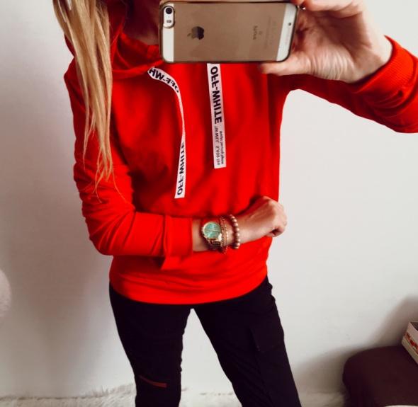 Czerwona Bluza Damska glamour M