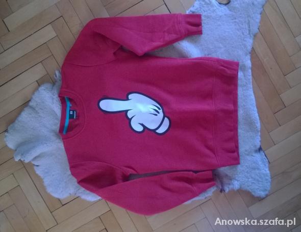 Czerwona bluza z printem unisex Fishbone...