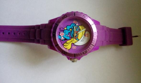 zegarek smerfetka damski