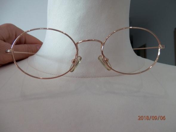 Okulary Oprawki Okularowe Owalne Włoskie Złote Metalowe Lekkie Hit Sezonu