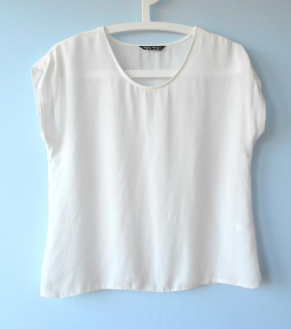 Select biała elegancka bluzka mgiełka oversize...