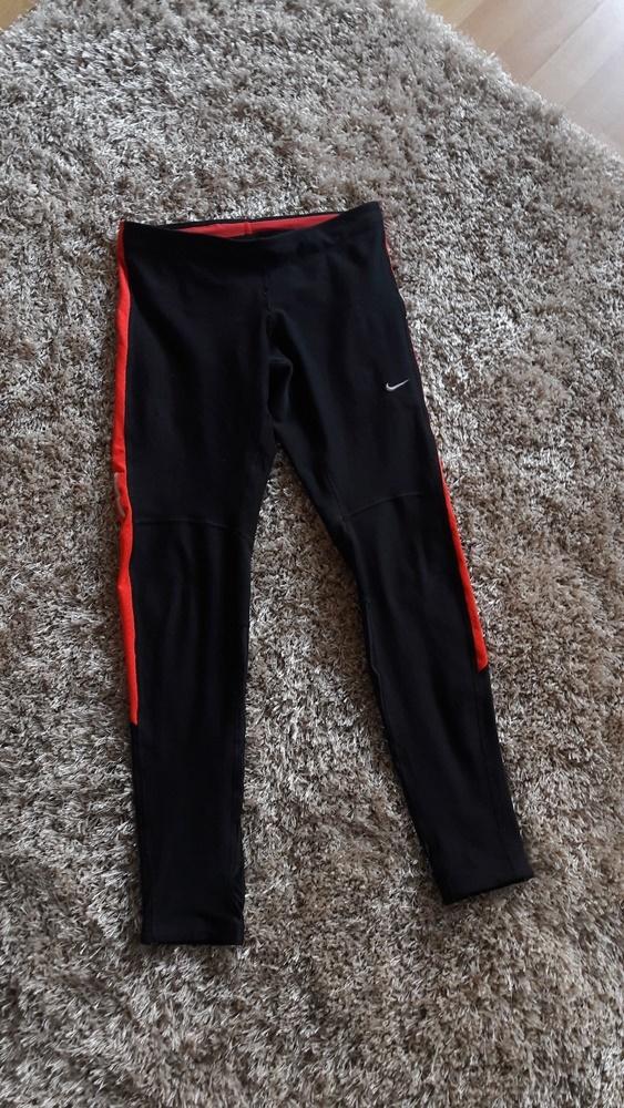 Czarne długie legginsy sportowetreningowe Nike dri fit 36...