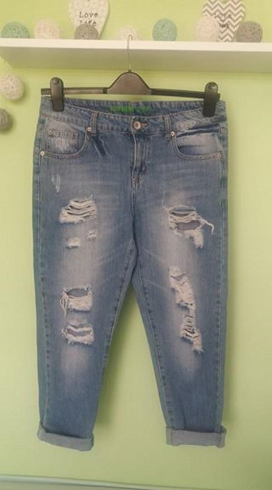 mega modne jeansy dziury boyfriendy wow
