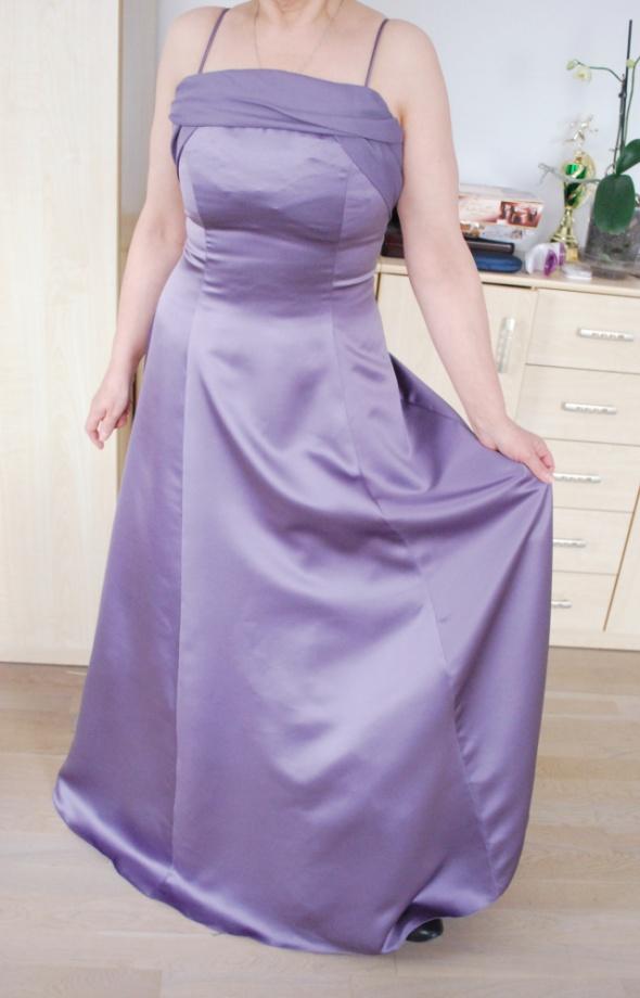 Fioletowa sukienka do ziemi maxi bal...