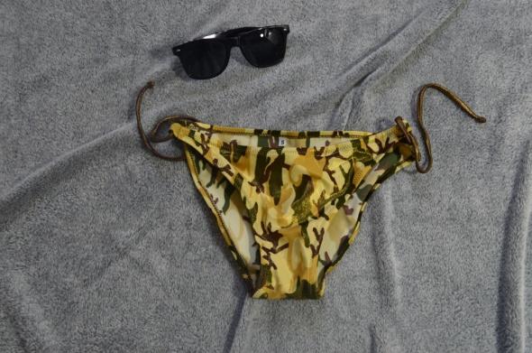 Majtki moro od bikini wiązane z boku rozm S