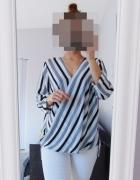 New Look kopertowa bluzka w pasy...