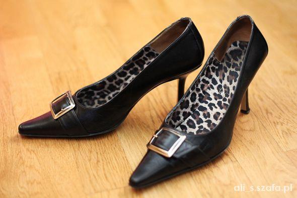 VENEZIA piękne eleganckie szpilki skóra 38 klasa...