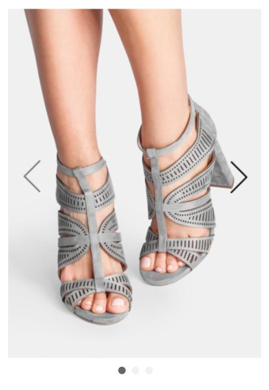 szare ażurowe sandałki