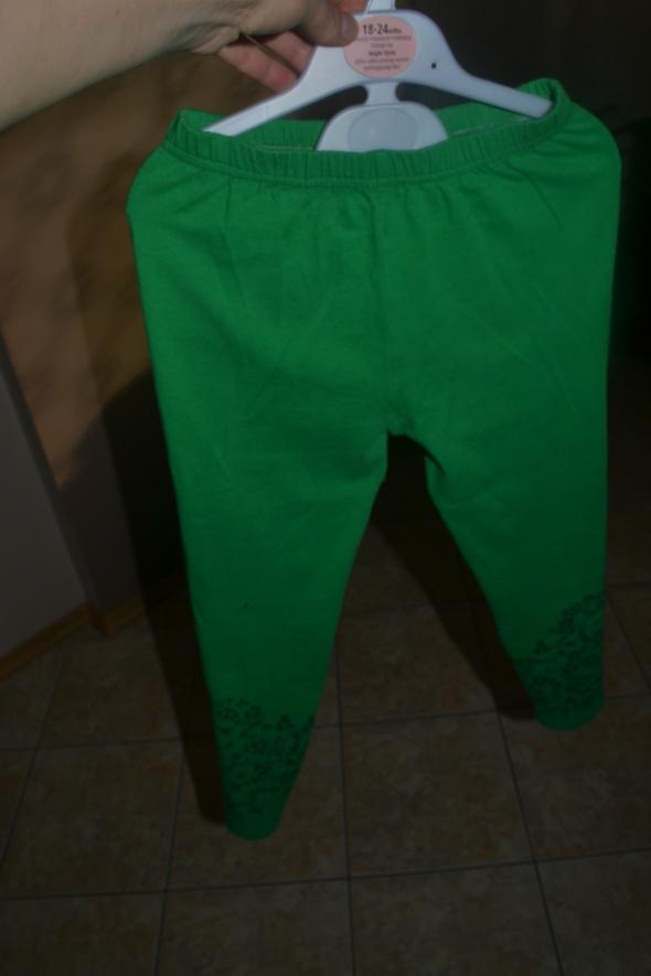 Leginsy zielone 146cm 140cm 134cm