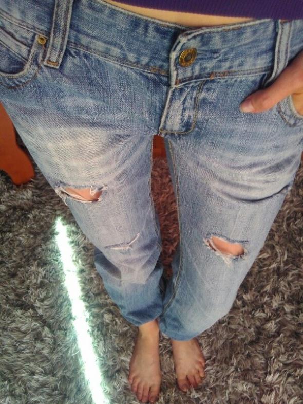 Levis spodnie jeansy bojówki dzury S M...