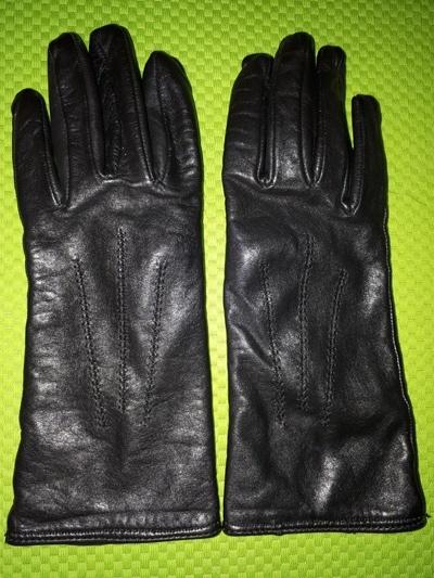 Skórzane rękawiczki rozmia S z ocieplaczem