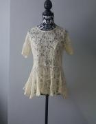 Idealna beżowa koronkowa bluzka M...