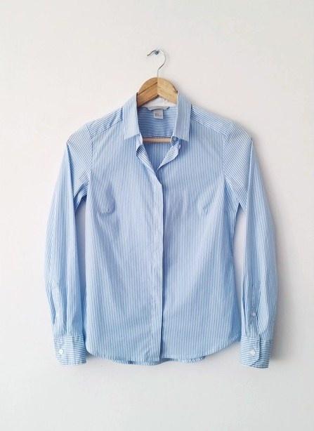 Blekitna koszula H&M w paski...