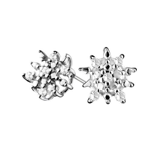 Kolczyki z diamentami srebro 925
