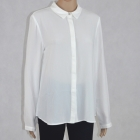Biała elegancka koszula damska z cyrkonią