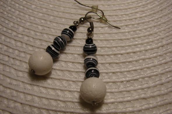 Kolczyki handmade biały koral
