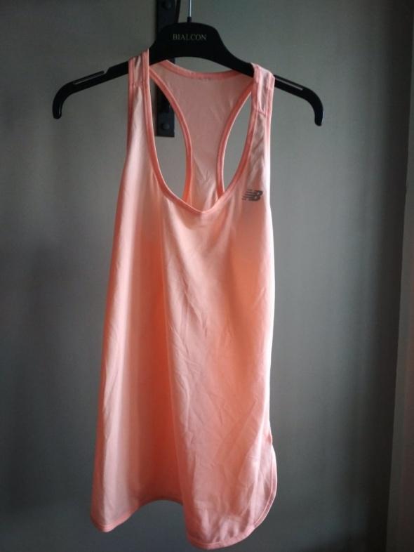 Sportowa koszulka NEW BALANCE morelowa S pastelowa...