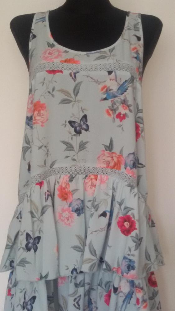 Mint&Berry nowa sukienka kwiaty falbany...