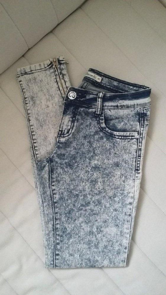 spodnie marmurki zipy