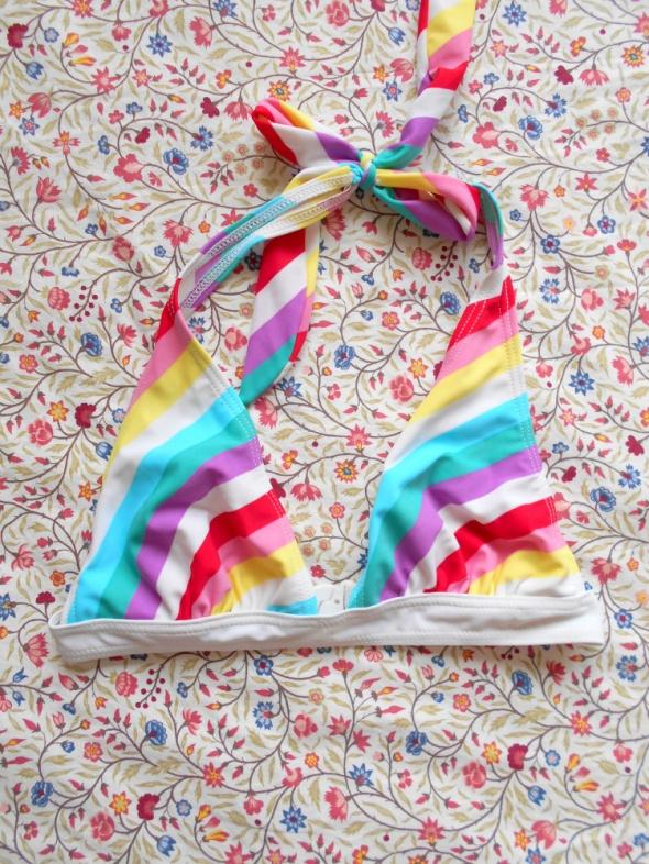asos góra bikini tęcza retro tęczowy kolorowy...