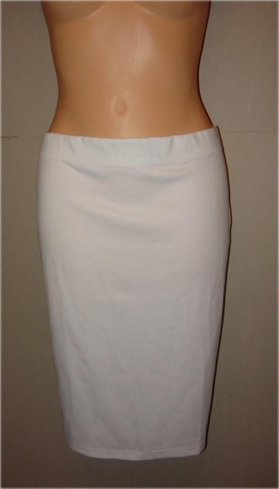 biała spódnica ołówkowa świetna 44 46