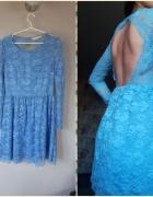 Sukienka koronka odkryte plecy L M wesele...