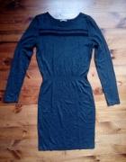 Sweterkowa SZARA sukienka M...