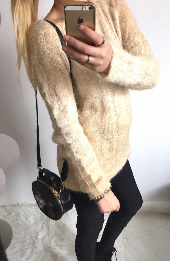Sweter Damski pulower ciepły M L