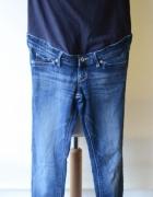 Spodnie H&M Mama Jeans Dzins Ciąża M 38 Skinny High Rib...