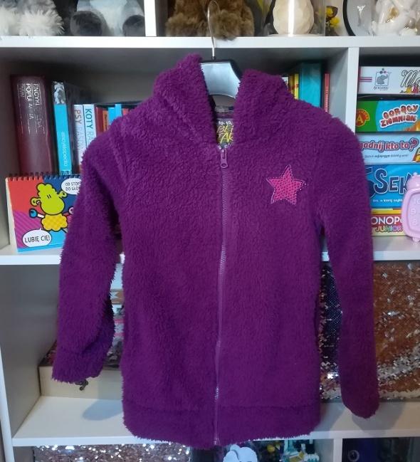 Gruba firmowa futrzana bluza dla dziewczynki rozm 134 140 jak nowa