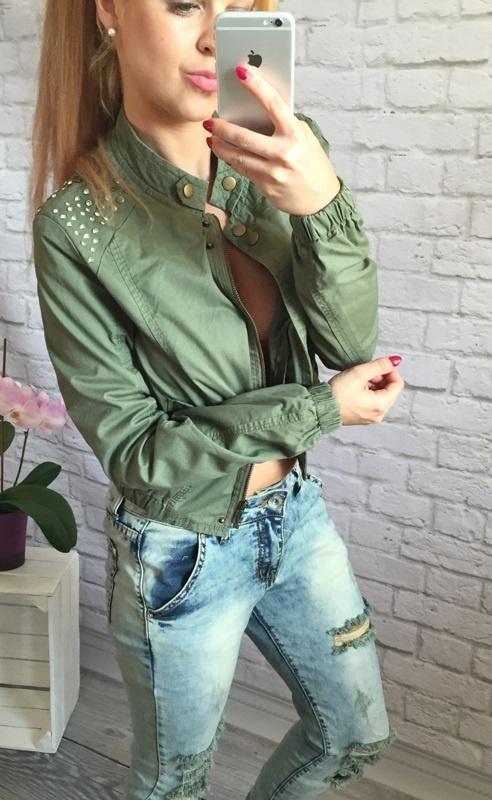 zielona bomberka dzety khaki
