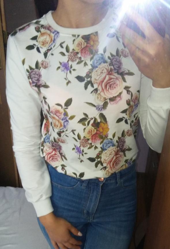 Bluza wiosna 2018 kwiaty pastele floral nadruk