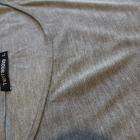 Szara bluzka tunika oversize
