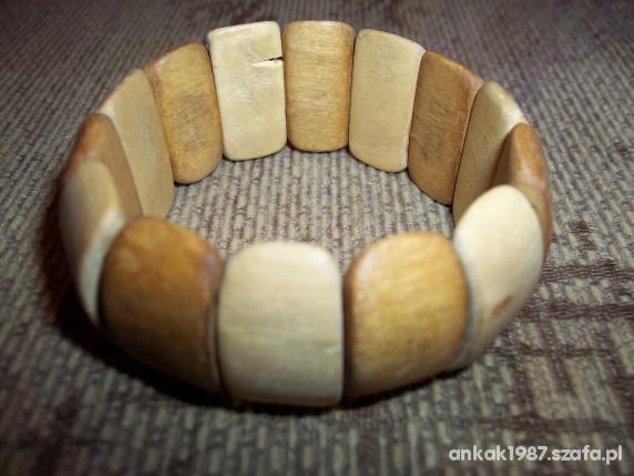 Bransoletka drewniana