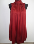 Bordowa sukienka Zara Basic M