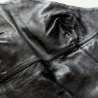 Czarna sukienka skóra S 36 M 38 skórzana