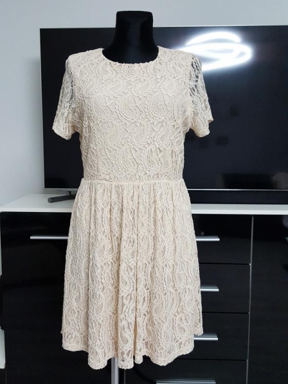 f798ebc1eb beżowa koronkowa sukienka Papaya w Suknie i sukienki - Szafa.pl
