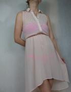 Plażowa sukienko tunika nude Atmosphere asymetryczna...