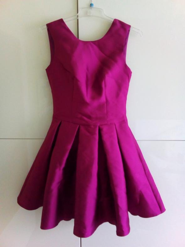 Sukienka fioletowa błyszcząca xs wesele